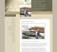 Wedding Website - Wolle Wedding 2012