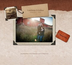 Wedding Website - Laurie and Josh