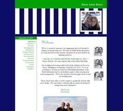 Wedding Website - Preppy Stripes!