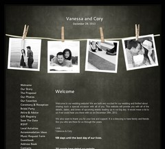 Wedding Website - Vanessa and Cory